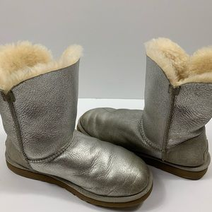 UGG Silver Metallic Boots Size 8